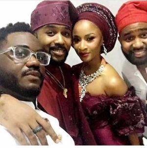 See Photo of Banky W and Adesua Etomi kissing at their Introduction